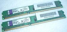 4GB RAM DDR-3 Kingston 2 x 2GB Module KVR1333D3S8N9/2G PC3-10600 1333 Mhz DDR3 #