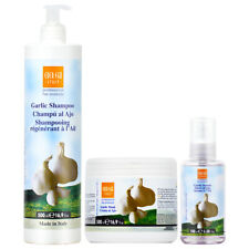 Ever Ego Garlic Shampoo + Mask 16.9oz + Serum 3.38oz w/Free Nail File