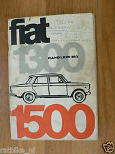 FIAT 1300 AND 1500 HANDLEIDING OWNERS MANUAL,INSTRUCTION BOOK 1966 ?