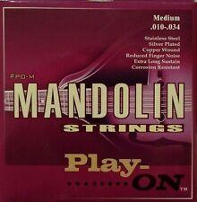 Play-ON Mandolin Strings Medium Full set 8 strings .010 - .034