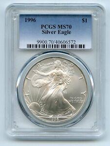 1996 $1 American Silver Eagle Dollar 1oz PCGS MS70