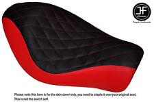 BLACK RED VINYL DIAMOND CUSTOM FOR HARLEY SPORTSTER LOW IRON 883 SOLO SEAT COVER