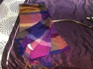 H&M multi coloured scarf/shawl 6' x 3' approx