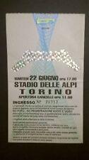 BIGLIETTO CONCERTO METALLICA 22/06/1993 TORINO STADIO DELLE ALPI RARISSIMO