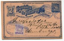 Nicaragua stationery to Hamburg Germany 1896