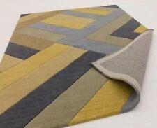 Ochre & Grey Wool Rug BNWT 123 cm x 177 cm Celeste Hand Tufted Ochre Rug