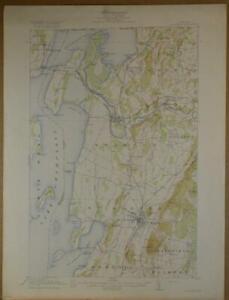 St Albans Vermont Antique USGS Topographic Map Printed 1916 16x20 Art
