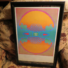 "PETER MAX VINTAGE POSTER--- -1,2,3 INFINITY --  FRAMED -13 "" X 19 ""-- 1970"