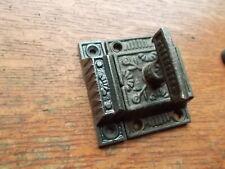 "Antique Fancy T-Handled Iron Cabinet Latch & Striker c1890 by Reading ""Windsor"""