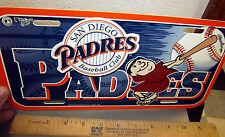 San Diego Padres Major league baseball MLB Plastic License Plate, older style