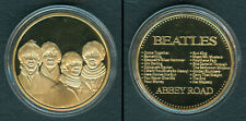 THE BEATLES Abbey Road Commemorative Gold Plated COIN MEDAL