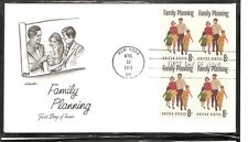 US Scott # 1455 Family Planning FDC. BLK4 . Artmaster