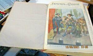 LA DOMENICA DEL CORRIERE annata completa rilegata 1911 MOLTO BELLA