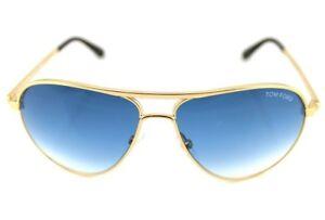 NEW JAMES BOND 007 SKYFALL Blue Gold TOM FORD Marko Aviator Sunglasses TF144 28W