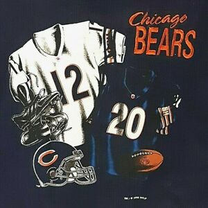 Vtg Chicago Bears Sweatshirt Size Large Blue #12 #20 Krammer + Jones Kids Small