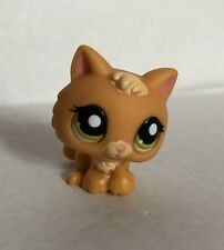 Authentic Littlest Pet Shop #1998 Kitty Cat Kitten Orange Cream Green Dot Eyes
