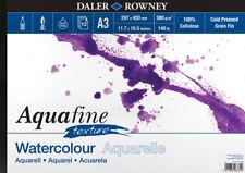Daler Rowney A3 AQUAFINE Textura Paisaje Acuarela Pad 300gsm prensado en frío