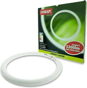 Eveready S5772 - 60w T9 400mm (40cm) Round Circular Fluorescent Tube White 3500k