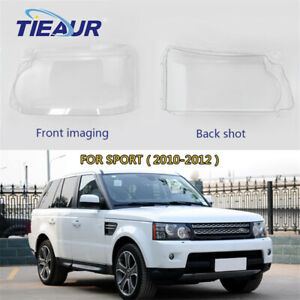 Pair Headlight Clear Lens Cover Shell For Land Rover Range Rover Sport 10-12