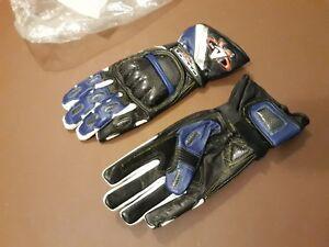 Akito Carbon Sp Rennen SPORTS Wasserdicht Motorrad Handschuhe Schwarz Blau