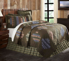 SENECA RIDGE Full Queen QUILT : SOUTHWESTERN CABIN LODGE BROWN PLAID