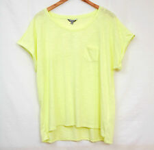 WOMANS YELLOW SUMMER CAPSLEEVE TOP BY SUSANNE GRAE SIZE XL (20-22)