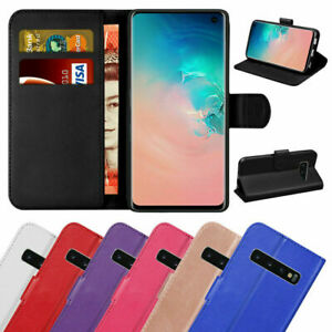 Samsung Galaxy S10 5G Plus S10e S9 PU Leather Flip Case Wallet Magnetic Cover