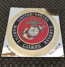 "4"" inch USMC US MARINE CORPS RESERVE Decal Car Bumper Sticker EGA Gold Foil"