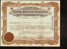 Oil : Cushing Petroleum Corporation Delaware dd 1921 issued to Christian Otten