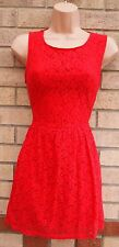 NEW LOOK FLORAL LACE A LINE CURVY FIT TEA SKATER FLIPPY VINTAGE RARE DRESS S