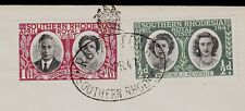 Southern Rhodesia Royal Tour Set George VI 1947 Special Cancel Cover 3w