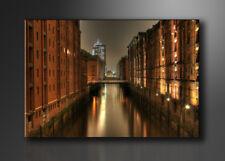 Bild - Marken Bilder Leinwand auf Rahmen Hamburg 120x80cm XXL 5051>