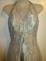 Jovani 2 Formal Dress Olive Green Ombre Lace Metallic Beaded Prom Evening Shiny