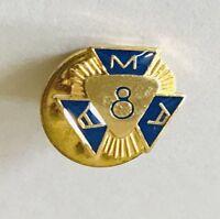 AMA American Motorcycle Association 8 Years Member Pin Badge Rare Vintage (C1)