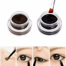 2 in 1 Brown+Black Eyeliner Makeup Water-proof Gel Smudge-proof Set Eye Liner