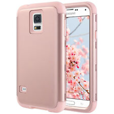 Rose Gold For Samsung Galaxy S5 i9600 Shockproof Hybrid Rubber Hard Cover Case