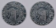 Lot of 2x Egyptian 1/2oz Fine Silver Rounds - Old World Style
