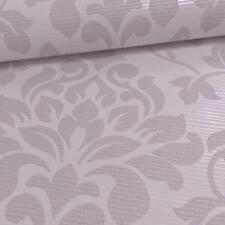 GRANDECO ELITE FLORAL DAMASK PATTERN GLITTER MOTIF EMBOSSED WALLPAPER ROLL MAUVE
