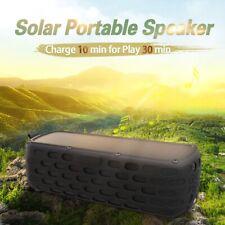 CYBORIS Solar Bluetooth Portable Wireless Speaker 9W Stereo Bass Speakers Blue