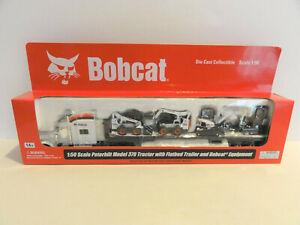 """PETERBILT NORSCOT 25101 PETERBILT 379 w/Flatbed & """"BOBCAT"""" Equipment 1:50 """"NEW"""""""