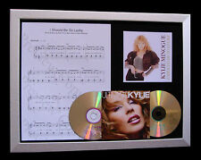 KYLIE I Should Be Lucky GALLERY QUALITY MUSIC CD FRAMED DISPLAY+FAST GLOBAL SHIP