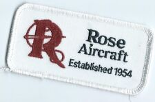 Rose Aircraft patch established 1954 2 X 4 error patch established in 1964