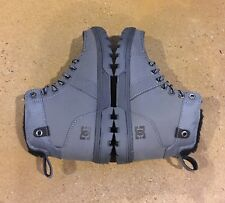 DC Woodland Boots Men's Size 6.5 US Grey Moc Toe BMX MOTO Hiking Skate Boots