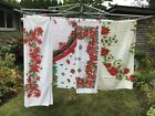 Lot 5 Vintage/Plus Christmas Tablecloth's Table Linens Holiday Decor