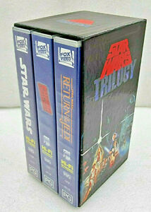 RARE STAR WARS TRILOGY VHS Box Set Original Video Tape CBS 1988