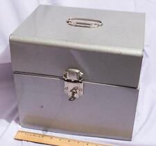Vintage Metal File Box with Key jds