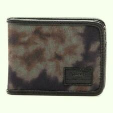 Vans Off The Wall Exter Black Camo Tie Dye Mens Bifold Wallet New NWT