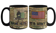 US Army Personalized Mug - MSG - E8 - US Army Gift for Dad/Mom/Son/Daughter