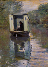 """perfect  24x36 oil painting handpainted on canvas"""" bateau atelier"""" NO5348"""