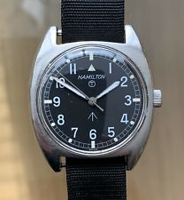 Vintage Hamilton W10 1973 British Military Issue Swiss Manual Wind 35mm T Dial